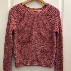 American Eagle Pink Multi-Color Sweater Size Small